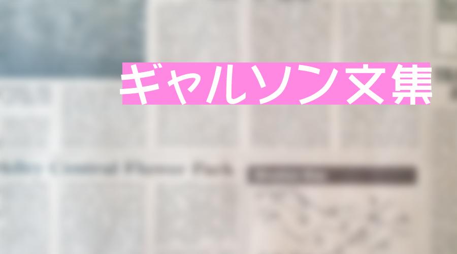 No.3 ギャルソン文集 Vol.2 ~2017.10.31 up~